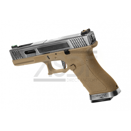 WE - Série G17 Custom Metal Version GBB TAN-24126