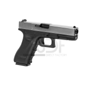 WE - G17 gen. 3 bicolore CHROME ET NOIR GBB Gaz Blow Back