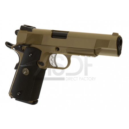 WE - M1911 MEU Tactical Full Metal GBB TAN