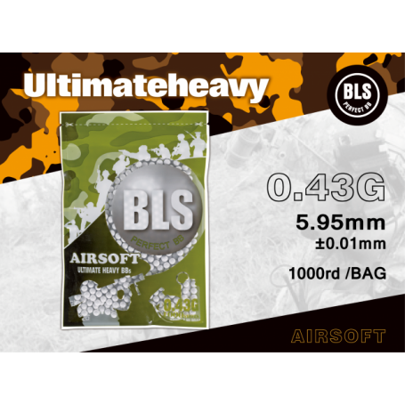 BLS - BILLE AIRSOFT 0.43GR BIODEGRADABLE 1000pcs