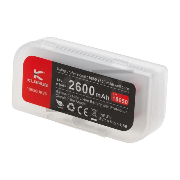 KLARUS - BATTERIE 18650 3.7V 2600MAH MICRO-USB-26801
