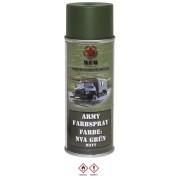 MFH - BOMBE DE PEINTURE ARMEE, NVA VERT, MAT, 400 ml