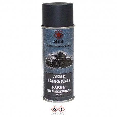 MFH - BOMBE DE PEINTURE ARMEE, WH GRIS CHARS, MAT, 400 ml